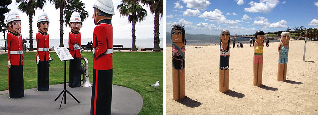 Geelong海滩木偶人